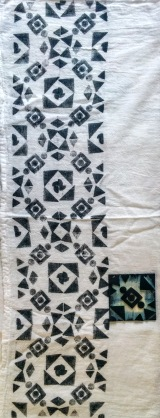 hand stamped tea towel | flygurlblogwordpresscom